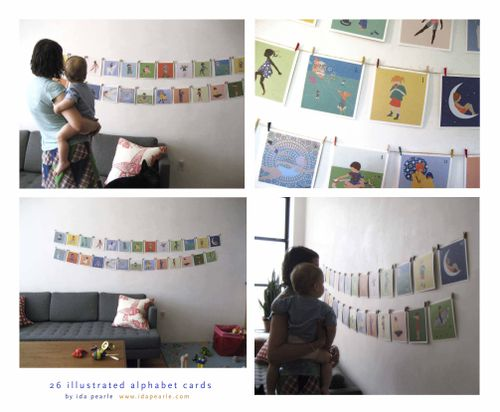 Alphabet cards- wall art copy