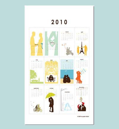 2010 Wall calendar - romantic