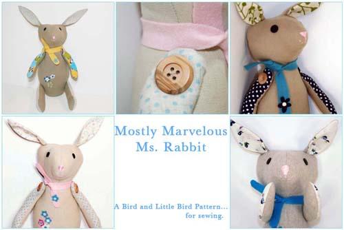 Rabbit pattern envelope cover 2