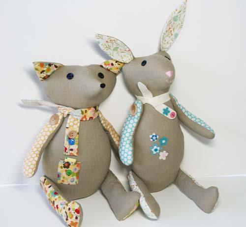 Rabbit and fox for linda