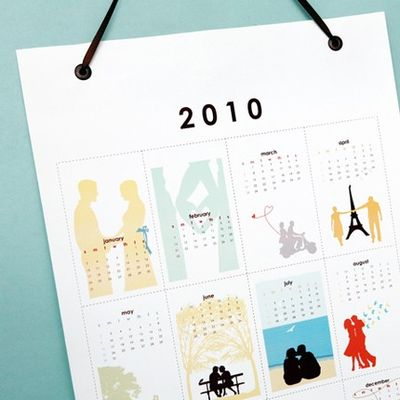 2010 wall calendar - romantic 2