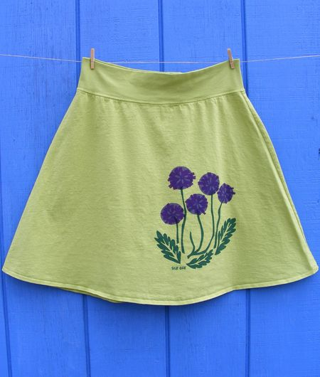 Skirt purple flowers #3