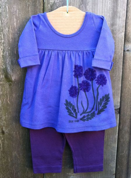 Infant Dress Blue Violet Dandelions