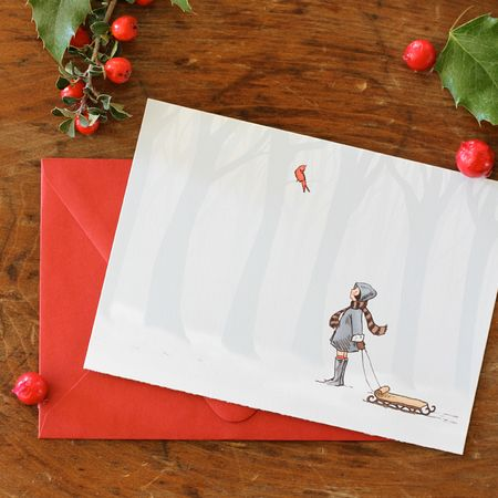 Winter cheer folded card