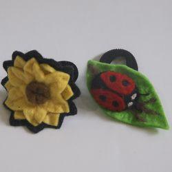 Soulemama sunflower and ladybug