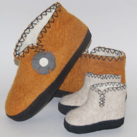 Soulemama adult and child slippers