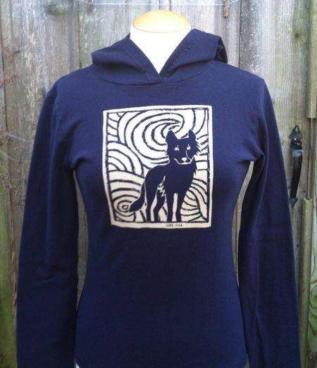 Wolf women's hoodie #1.jpeg