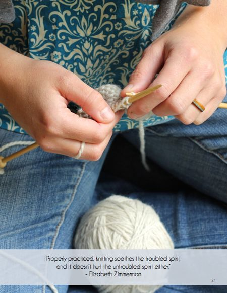 Crafting Connections - Knitting from Explore Touch Magazine