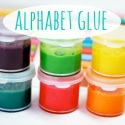 Alphabet glue 125 x 125 button