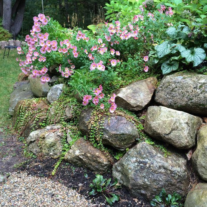 New rock retaining wall