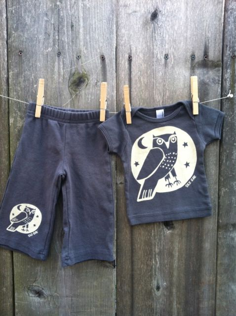 Owl infant pant set #2