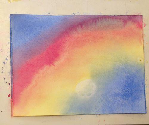 Wet painting waldorf