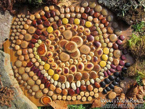 Button mandala woolymossroots