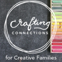 NEW Square Chalkboard and Pastels Crafting Connections 125X125 button