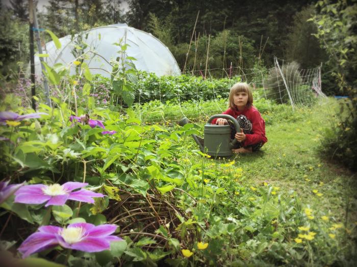 Amanda 6 - eva helping me garden